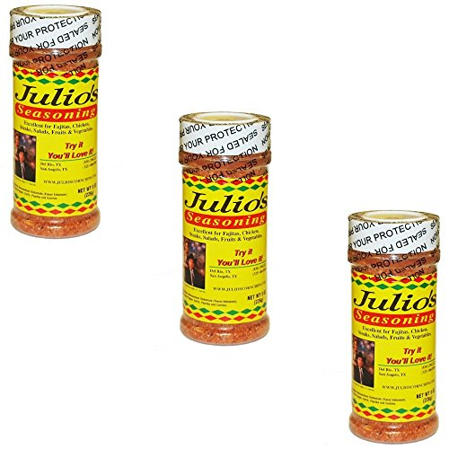 Julio'S Chip Seasoning - Texas Made - Three 8 Oz Bottles
