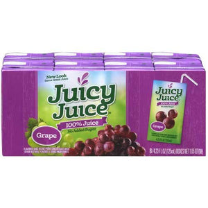 Juicy Juice Grape Juice Single Serve Fun Box, 33.84 Fluid Ounce -- 5 Per Case.