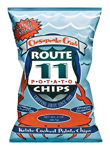 Route 11 Chesapeake Crab Potato Chips, Kettle Cooked In Small Batches, Non-Gmo Dairy-Free Peanut-Free (15 Bags (2 Oz Each))