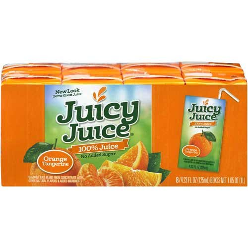 Juicy Juice Orange Tangerine Juice Single Serve Fun Box, 33.84 Fluid Ounce -- 5 Per Case.