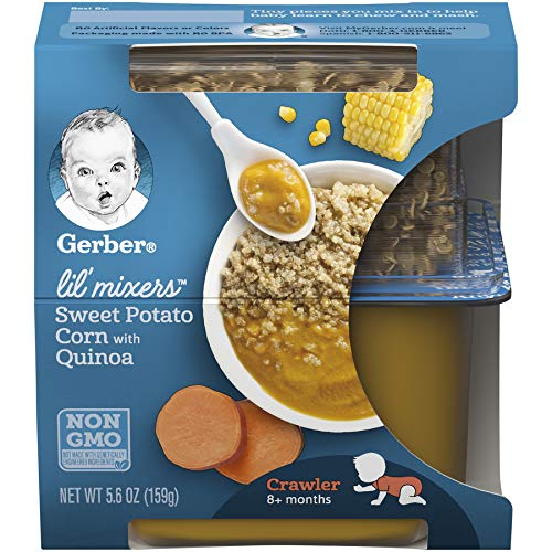 Gerber Purees Crawler Lil' Mixers Rice And Quinoa With Sweet Potato Corn, 6 Count