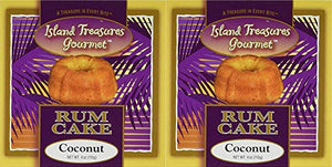 Island Treasures Rum Cake Coconut - Two / 4 Oz U.S. Made Cakes - Smooth  Moist Authentic - Full Flavored - The Best Gourmet Treat (Itg Cn 2Pk)