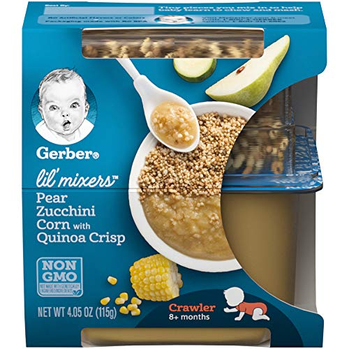 Gerber Purees Crawler Lil' Mixers Ancient Grain Crisps With Pear Zucchini Corn, 6 Count