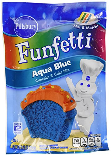 Pillsbury Funfetti Cupcake And Cake Mix 8.25Oz Pouch  Select Color Below (Aqua Blue)