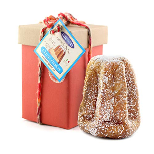Giusto Sapore Mini Classic Pandoro Italian Panettone Premium Gourmet Bread 3.5 Ounce - Gift Box Stocking Stuffer - Imported From Italy - Traditional Dessert