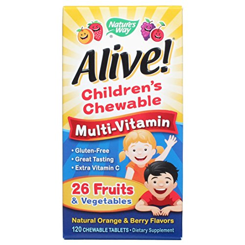 Nature'S Way Alive!Multi Vit Chew Kids 120 Chew