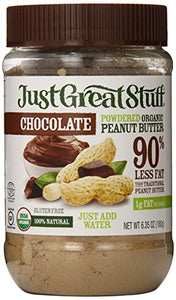 Just Great Stuff Powdered Organic Peanut Butter, Chocolate, 6.35 Ounce