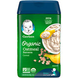 Gerber Baby Cereal Gerber Organic Oatmeal Cereal With Banana, 8 Count