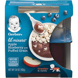 Gerber Purees Crawler Lil' Mixers Ancient Grain Crisps With Apple Blueberry, 6 Count