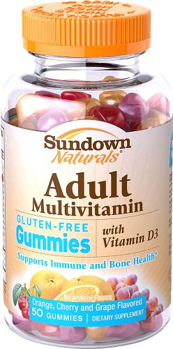 Sundown Naturals Adult Multivitamin Gummies, 50 Ct