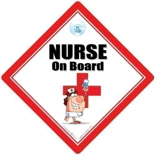Funny Signs Iwantthatsignltd Nurse On Board, Nurse On Board Car Sign, Nurse Sign, Nursing Sign, Baby On Board, Nurse Car Sign, Rgn, Nursing Sign, Medical Sign