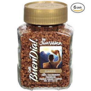 (Super Value 6 Pack) Buendia By Juan Valdez Classic 100% Colombian Freeze Dried Coffee, 3.52 Oz.