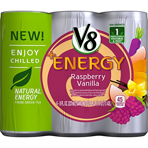 V8 +Energy Raspberry Vanilla, 6 Count  (Packaging May Vary)
