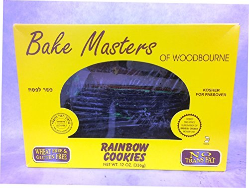 Bake Masters Rainbow Cookies Gluten Free Kosher For Passover 12 Oz.