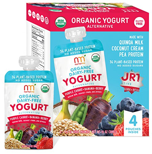 Nurturme Organic Dairy Free Yogurt, Purple Carrot, Banana And Berry, 4 Count