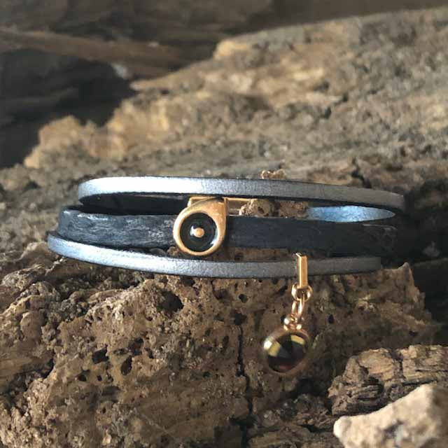 Dark as Night Leather Bracelet