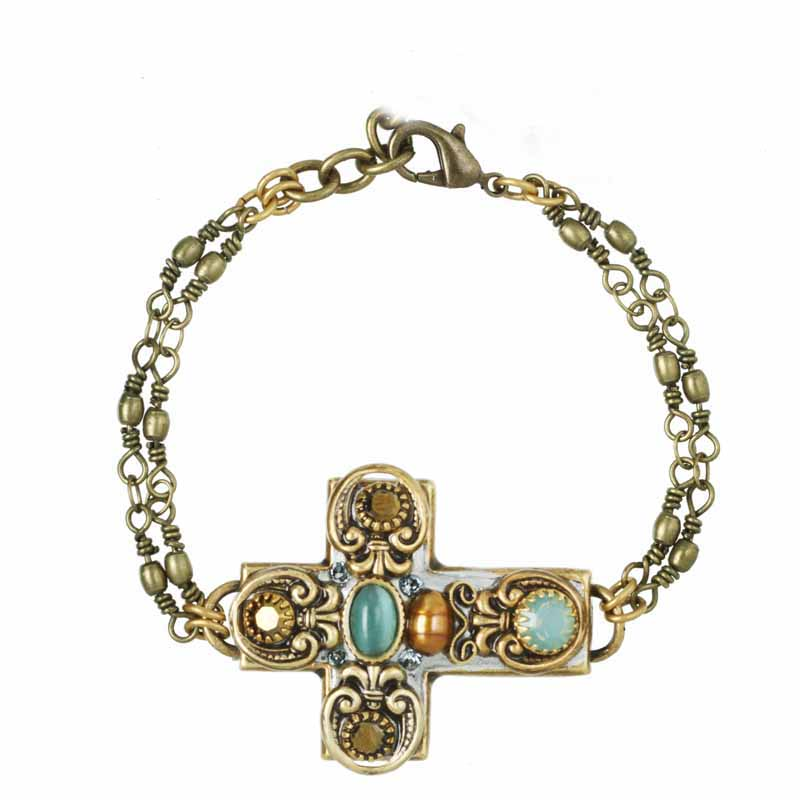 Royal Light Blue Cross Bracelet