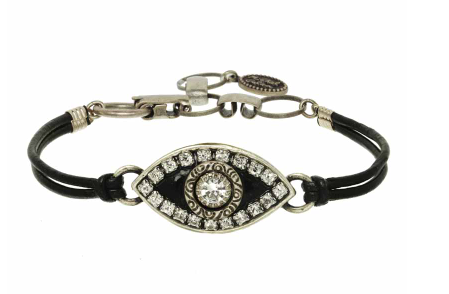 Black and Silver Mati Bracelet
