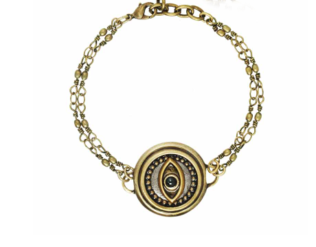 Silver Eye Medallion Bracelet