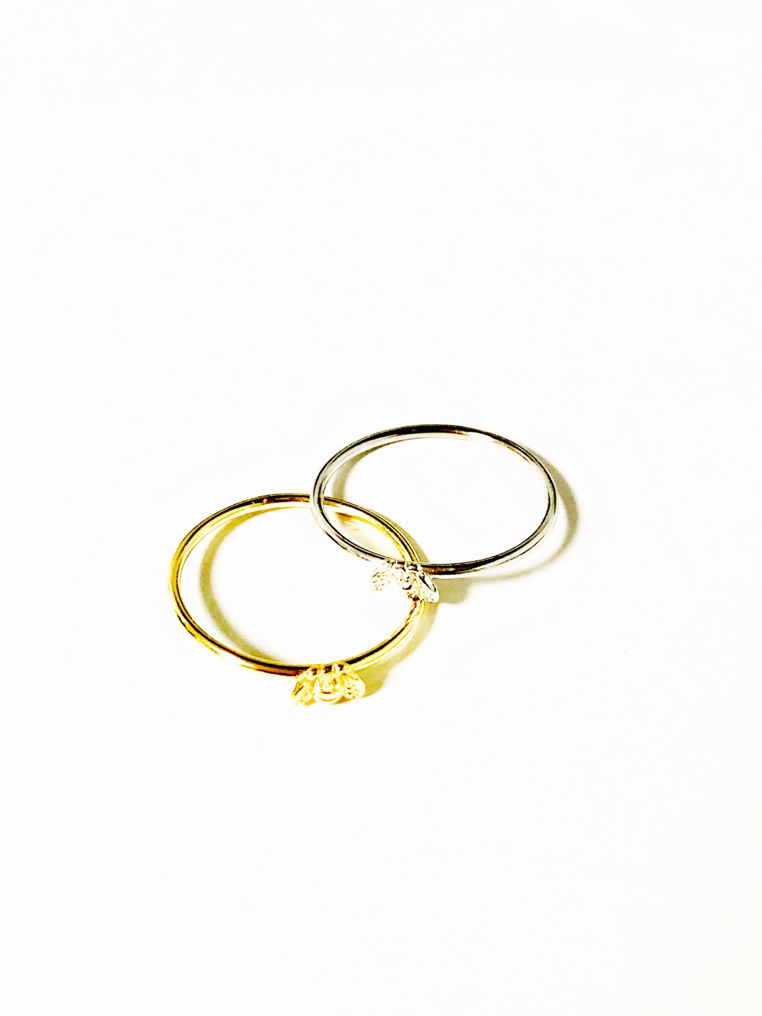The Baby Bee Stackable Ring - Gold