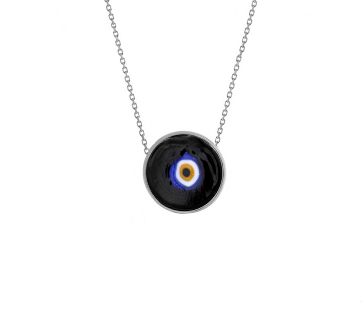 Black Earthy Eye Necklace