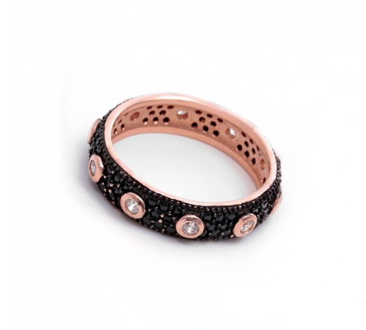 Onyx and Crystal Stackable band