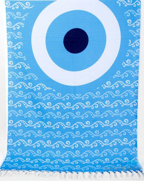 Wave Evil Eye Beach Towel and Pareo