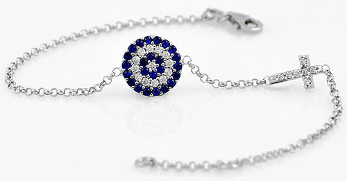 Goddess-Eye Cross Bracelet