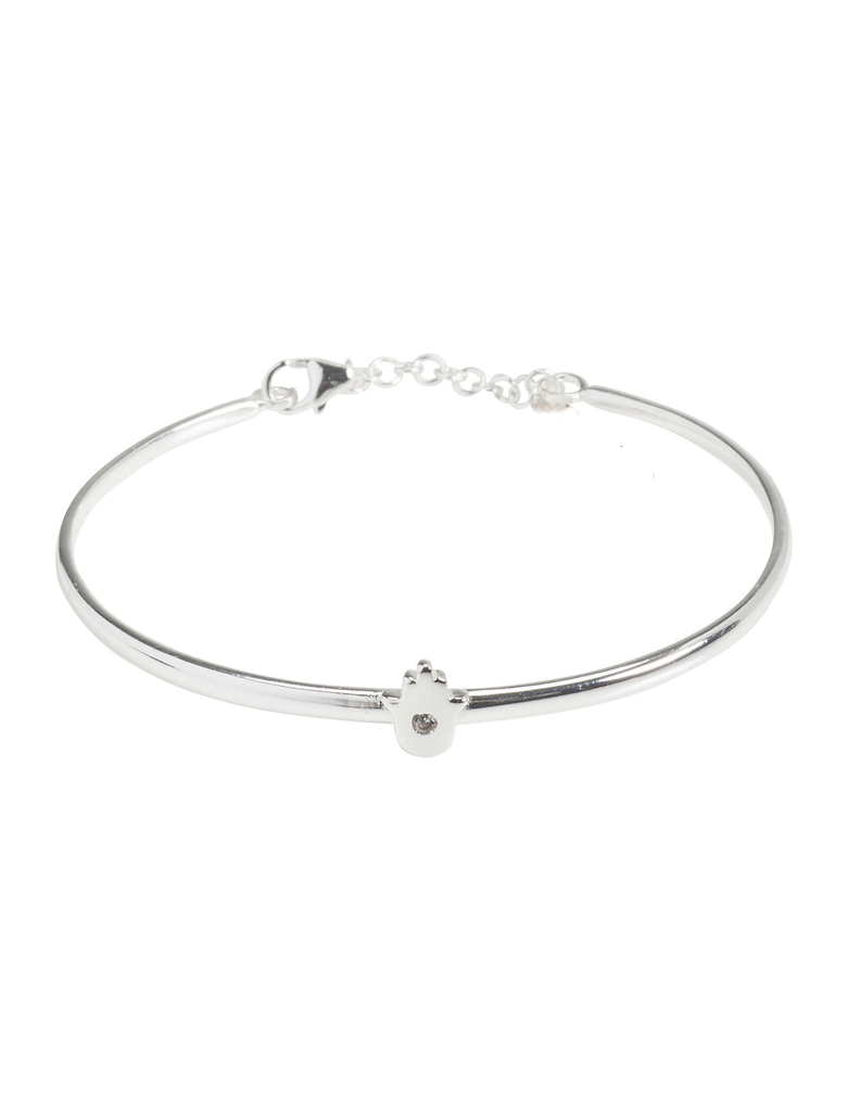 Delicate Hamsa Bangle