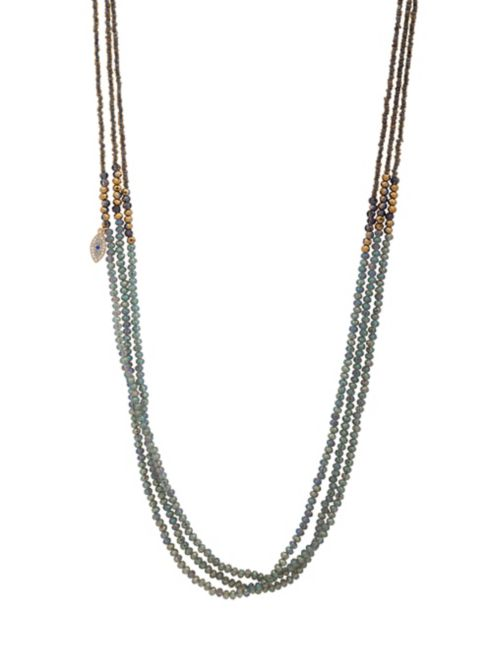 Beaded Triple-Strand Mati Necklace