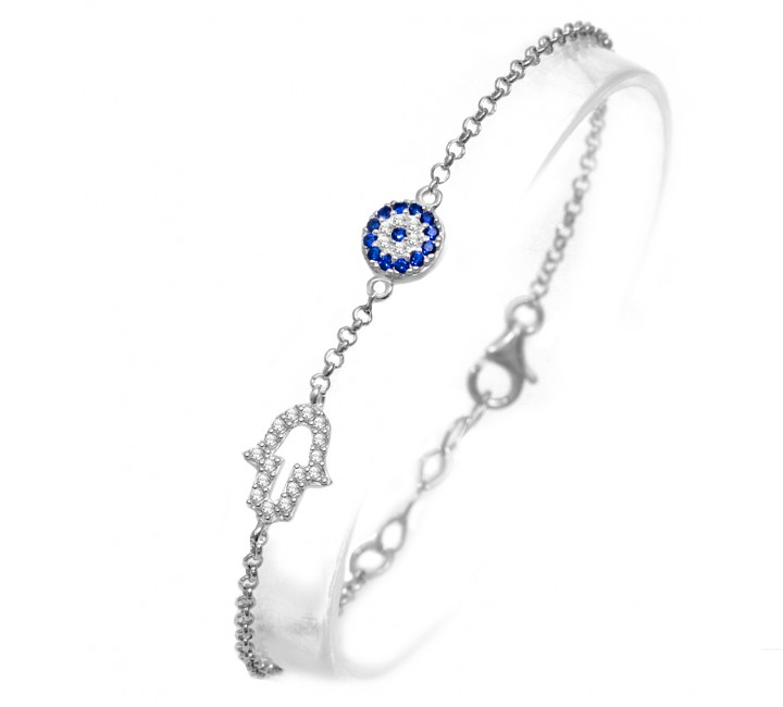 Mini Hamsa Eye celebrity bracelet
