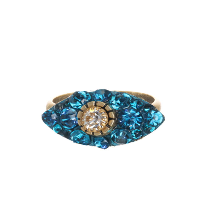 Dazzling Turquoise Small Eye Ring