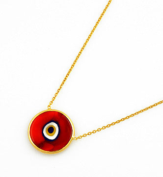 Red Earthy Eye Necklace
