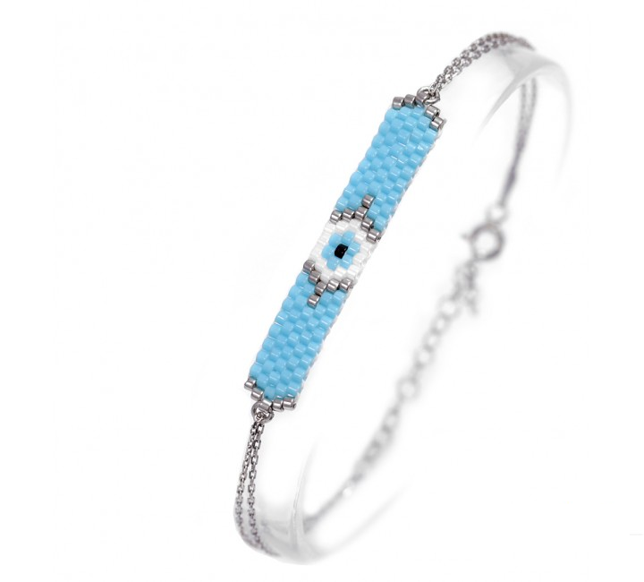 Seabead mati bracelet - light blue