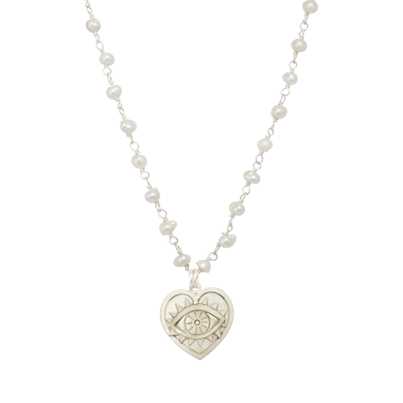 Bright Eye Heart Necklace