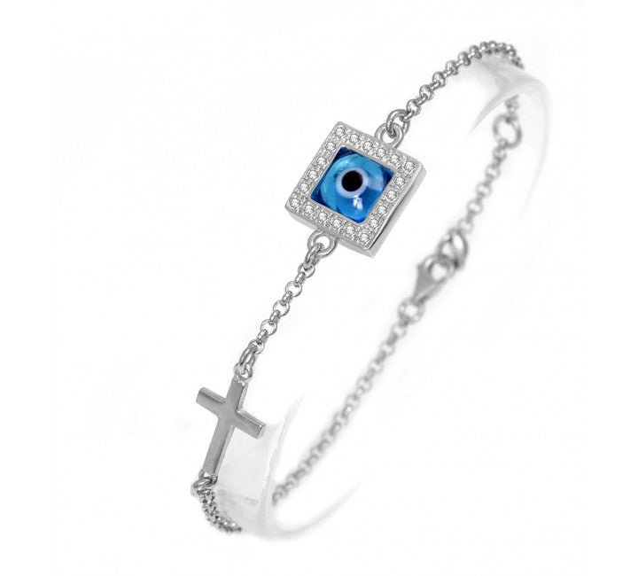 Square Mati Cross Bracelet
