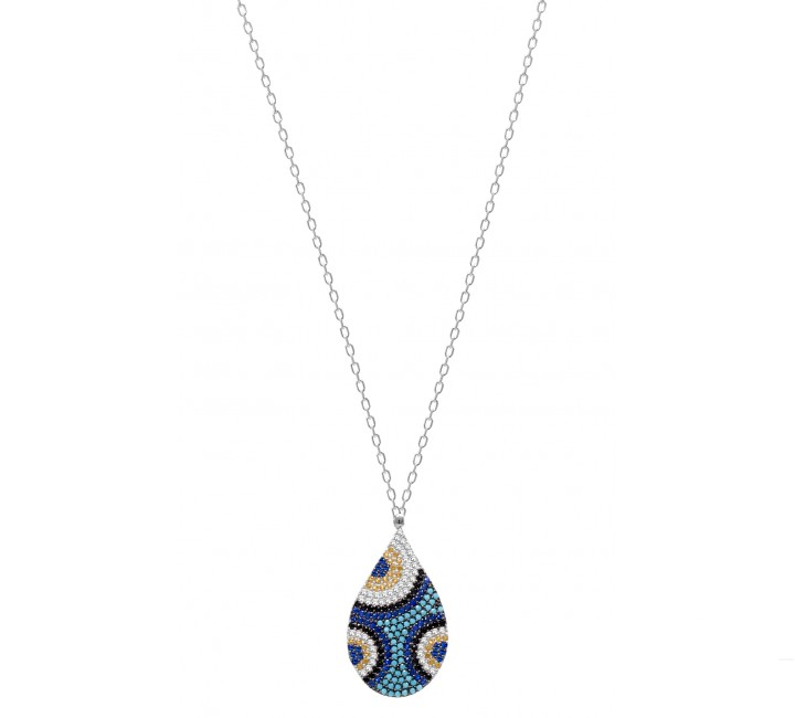 Tear Drop turquoise eye necklace