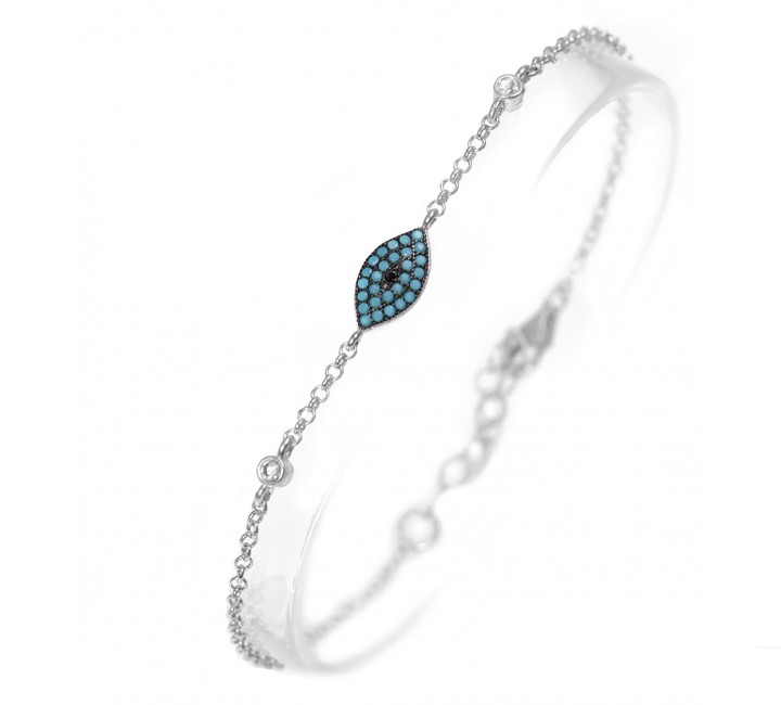 Sleek Turquoise eye bracelet