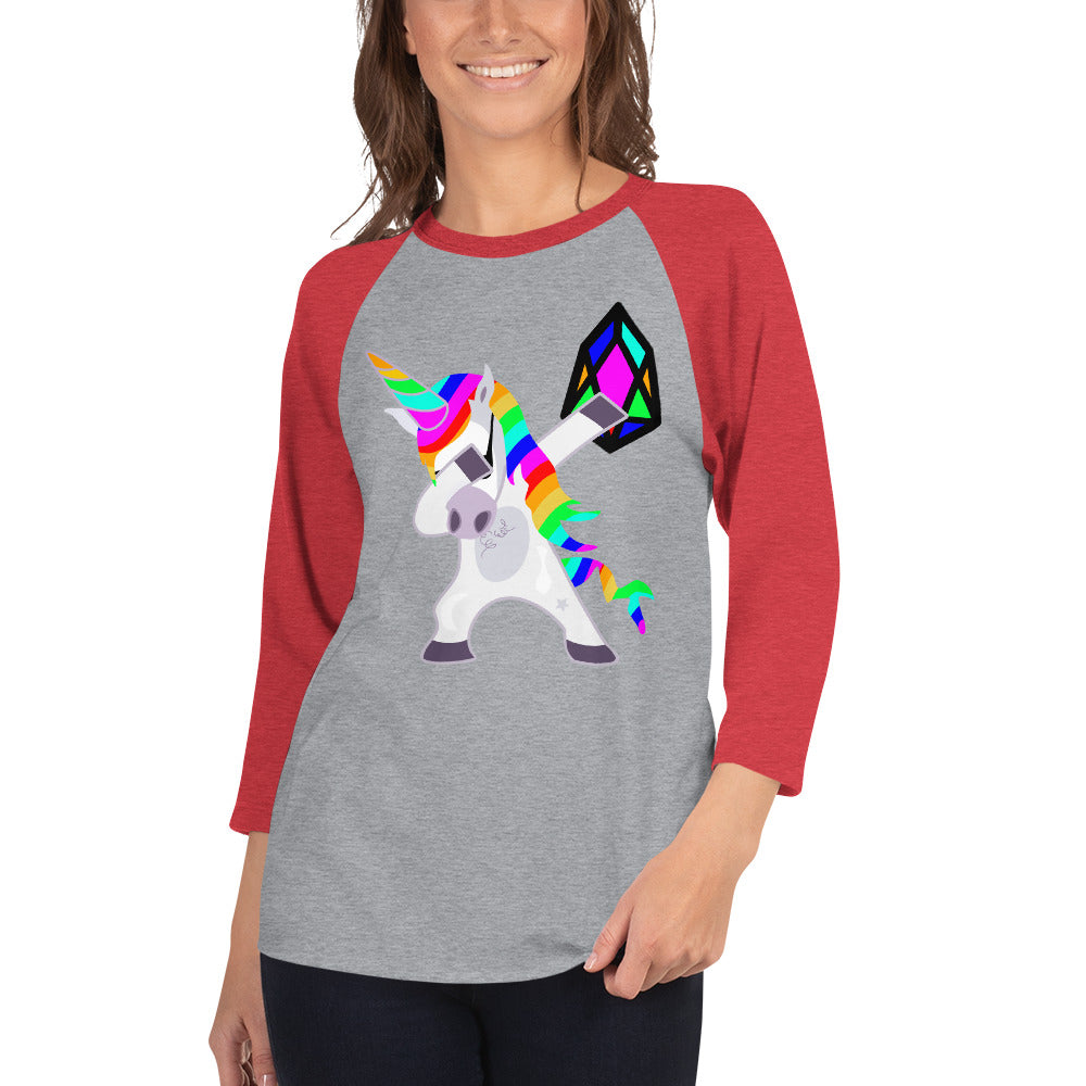 YM - Dabing Unicorn - *Women's 3/4 sleeve Shirt*