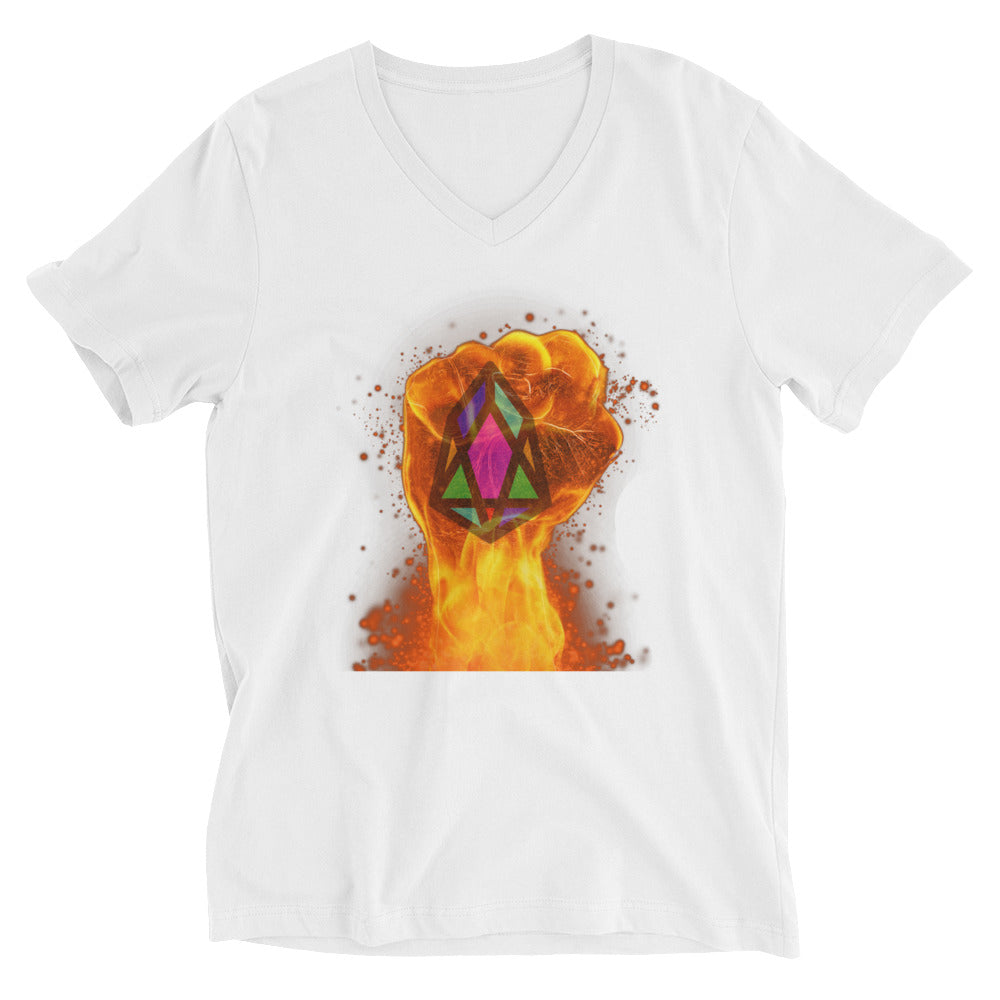 PIX - pixEOS FLAMING FIST - *Women's V-Neck T-Shirt*