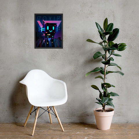 Image of FY - Cyberpunk Voxie 2 - *Photo Paper Framed Poster*