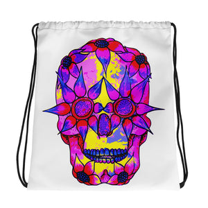 OP - Pink Skully - *Drawstring bag*