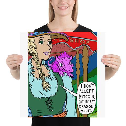 Image of JC -  Ye Olde Bitcoin Shoppe - *Photo paper poster*