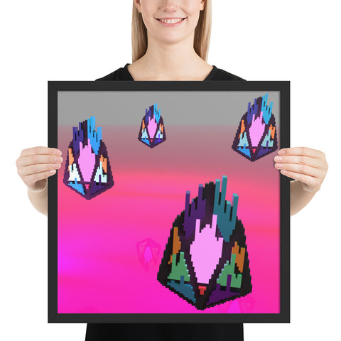 Image of FY - Pixeos Voxel - *Premium Photo Paper Framed Poster*