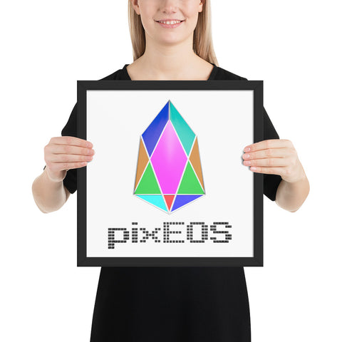 PIX - pixEOS logo 3D 2 - *Photo Paper Framed Poster*