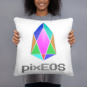 PIX - pixEOS logo 3D 2 - *Pillow Case w/ stuffing*