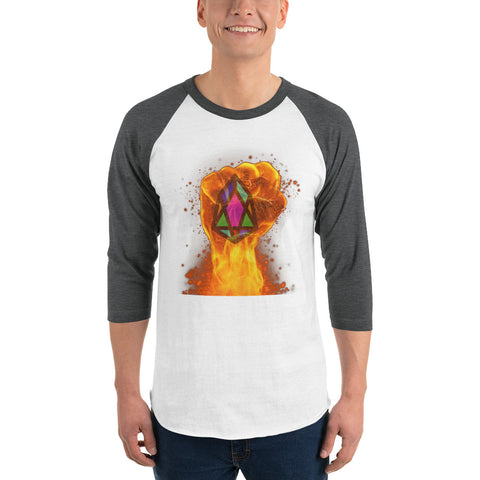 Image of PIX - pixEOS FLAMING FIST - *Men's 3/4 Sleeve Shirt*