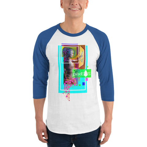 Image of AV - Pixsheos Power - *Men's 3/4 sleeve Shirt*