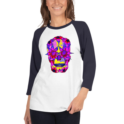 OP - Pink Skully - *Women's 3/4 sleeve Shirt*