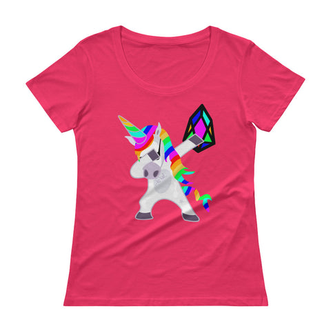 YM - Dabing Unicorn - *Women's Scoopneck T-Shirt*